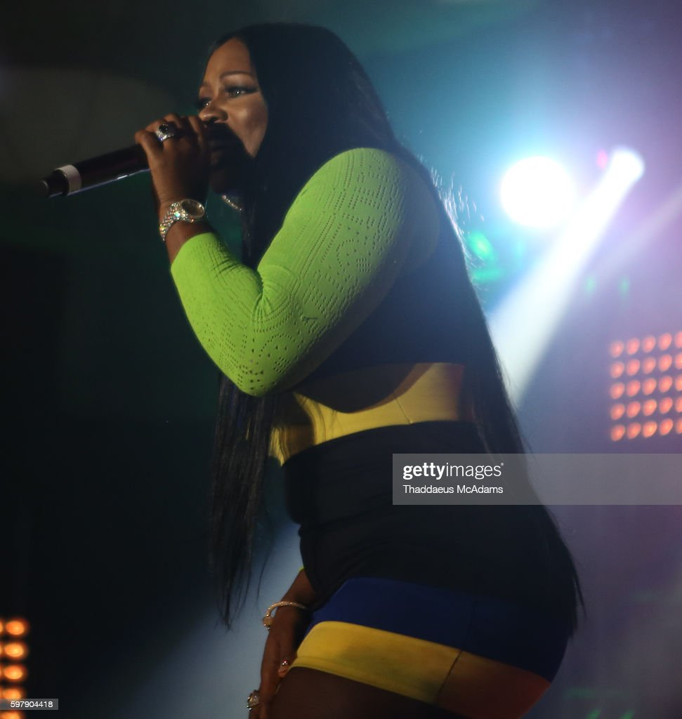 Remy Ma performs at Jungle Island at Port of Miami Concert on August 29 2016 in Miami Florida