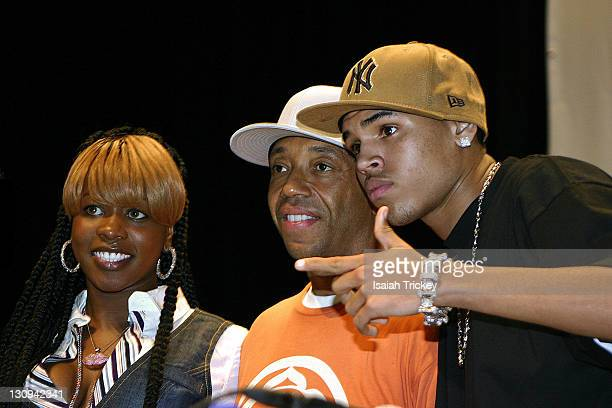 Remy Ma Russell Simmons and Chris Brown during HipHop Summit on Financial Empowerment October 28 2006 at Ryerson University's Theater in Toronto...