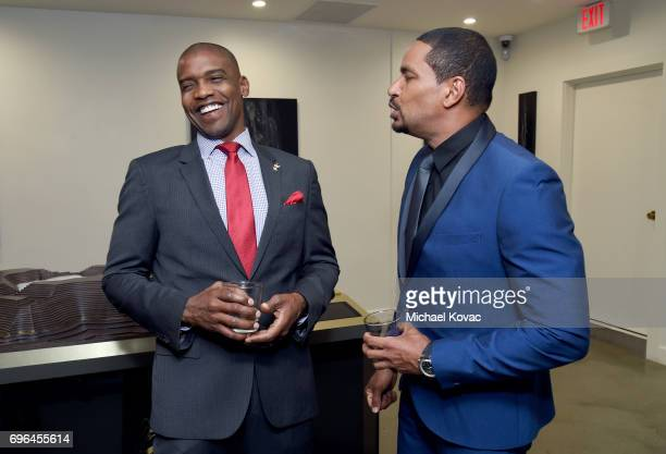 Remy Martin Brand Ambassador Herve Clermont and actor Laz Alonso attend Remy Martin's special evening with Jeremy Renner and Fetty Wap celebrating...