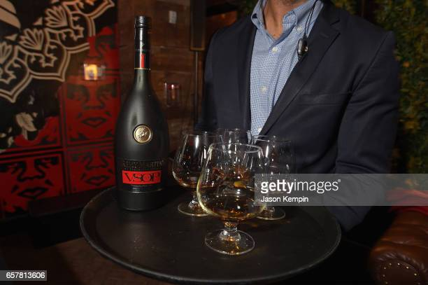 Remy Matin VSOP is served during the Remy Martin Culture Creators birthday celebration for Laz Alonso at Vandal on March 25 2017 in New York City
