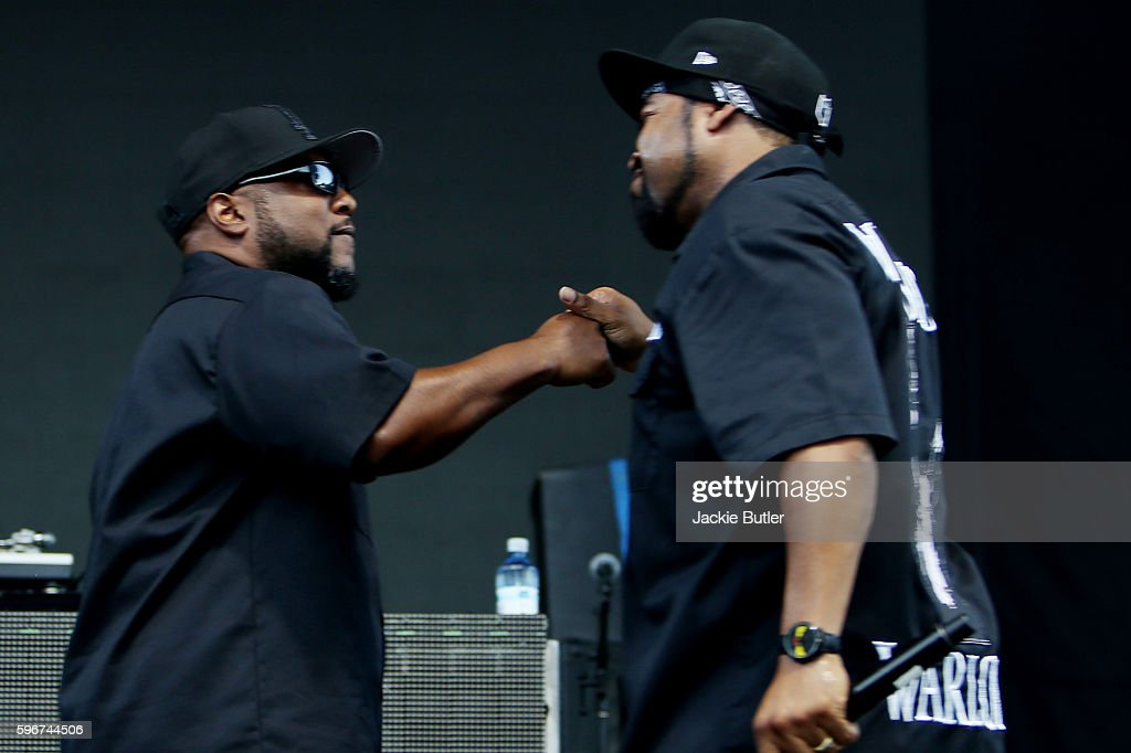 Ren and Ice Cube perform during MusicFest NW presents Project Pabst at Tom McCall Waterfront Park on August 27 2016 in Portland Oregon