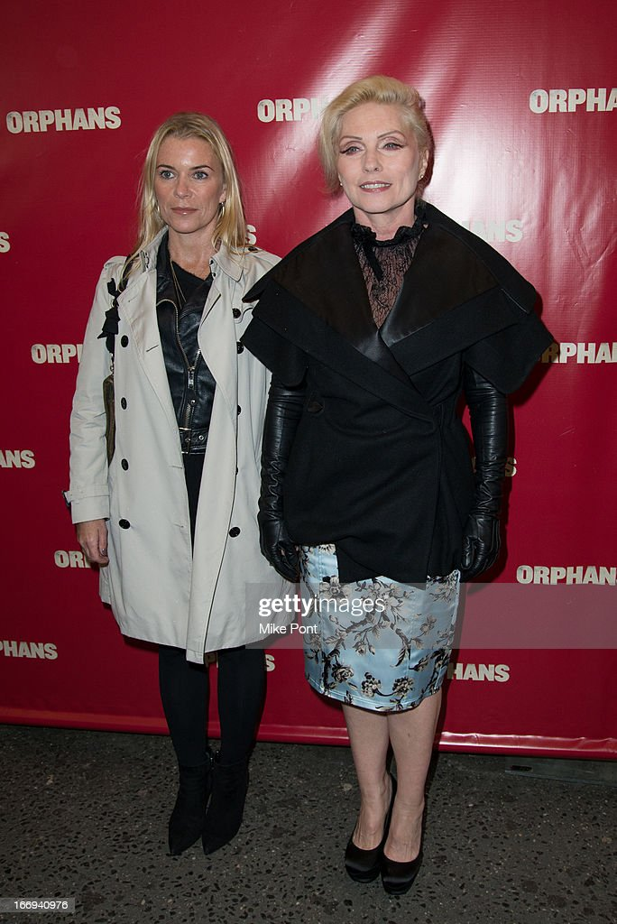 Ren Arthur and <a gi-track='captionPersonalityLinkClicked' href=/galleries/search?phrase=Debbie+Harry&family=editorial&specificpeople=209145 ng-click='$event.stopPropagation()'>Debbie Harry</a> attends the 'Orphans' Broadway opening night at the Gerald Schoenfeld Theatre on April 18, 2013 in New York City.