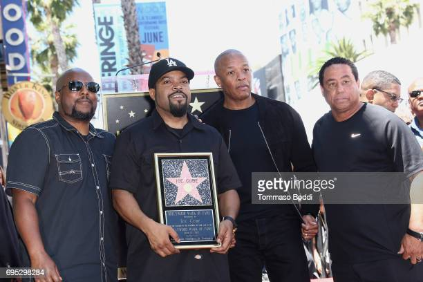 Ren Ice Cube Dr Dre and DJ Yella attend a Ceremony Honoring Ice Cube With Star On The Hollywood Walk Of Fame on June 12 2017 in Hollywood California
