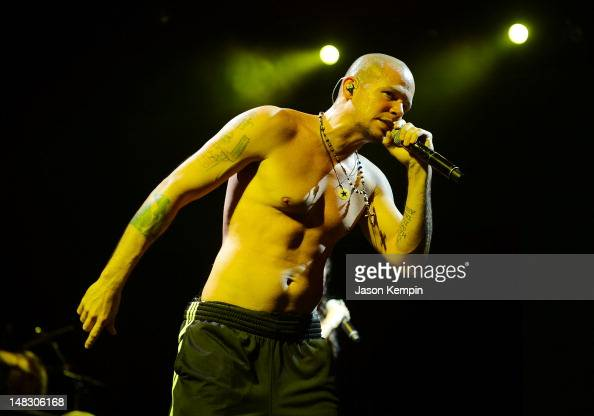 René Pérez Joglar of the band Calle 13 performs at the 2012 Celebrate Brooklyn festival at Prospect Park Bandshell on July 13 2012 in New York City