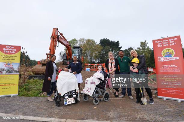 Rena Denise Kye Sophie Rose Diyen Enkelejda and Alonso attend the Noah's Ark Children's Hospice event as construction begins of 'The Ark' the first...