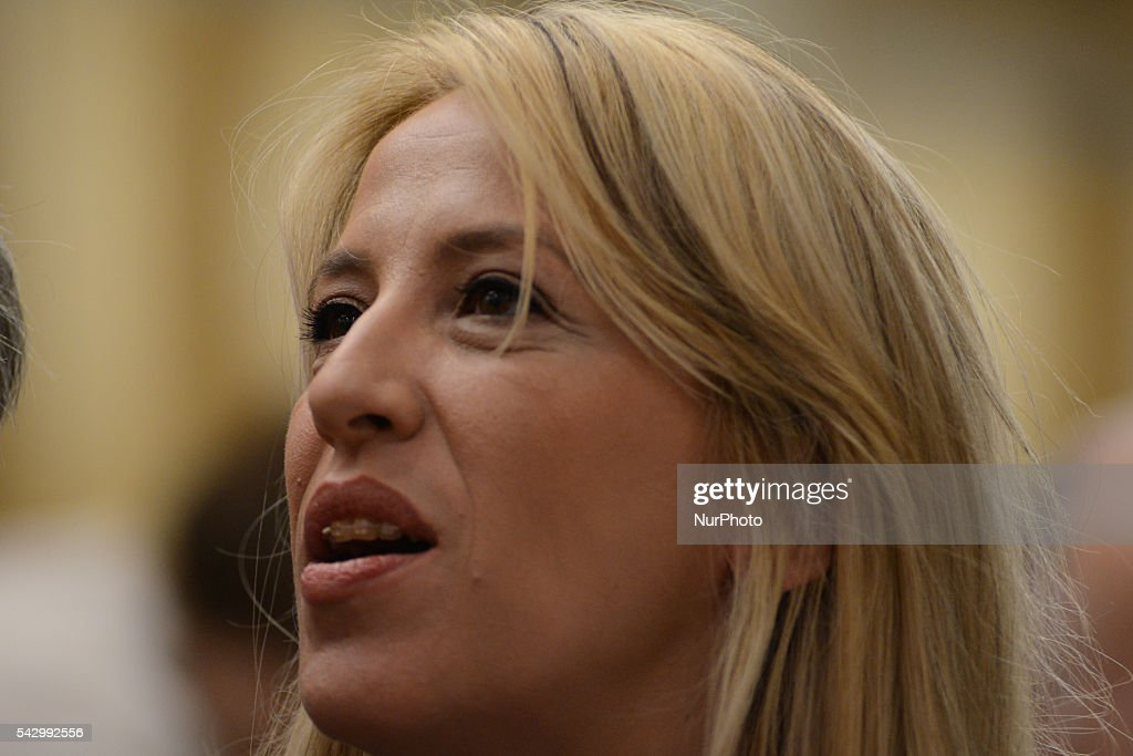 Rena Dourou, Regional Gouverneur of Attica during meeting of the Central Committee SYRIZA, Saturday 25 / Sunday 26 at Divani Caravel Hotel in Athens on June 25, 2016. One of the central topics was the impact of the Brexit.
