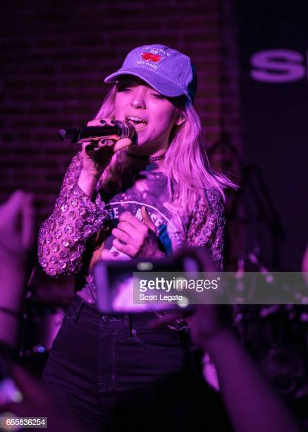 Rena Lovelis of Hey Violet performs at The Shelter on March 20 2017 in Detroit Michigan