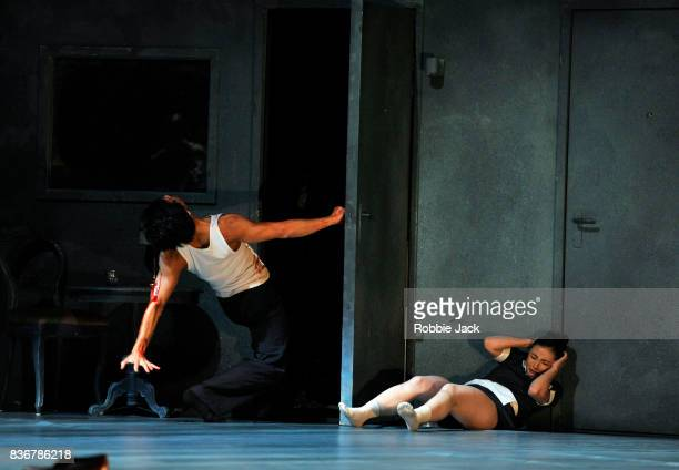 Rena Narumi and Céasar Faria Fernandes in Nederlands Dans Theatre's production of Gabriela Carrizo's The Missing Door as part of the Edinburgh...