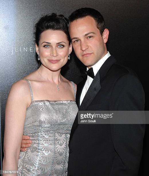 Rena Sofer and Sanford Bookstaver during Costume Designer's Guild Awards Arrivals at The Beverly Wilshire Hotel in Beverly Hills California United...