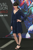 Rena Sofer attends 'The Bold and The Beautiful' Photocall as part of the 56th Monte Carlo Tv Festival at the Grimaldi Forum on June 13 2016 in...