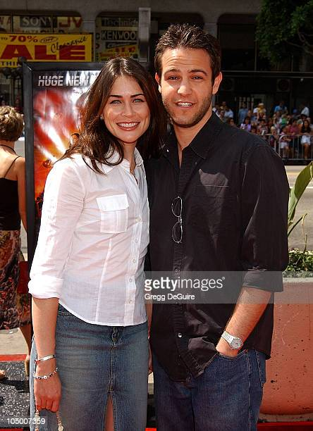 Rena Sofer director/producer Sanford Bookstaver during 'Spy Kids 2 The Island Of Lost Dreams' Premiere at Grauman's Chinese Theatre in Hollywood...