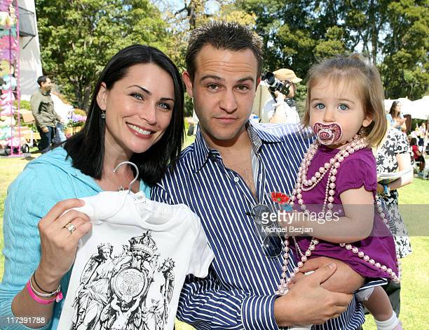 Rena Sofer husband Sanford Bookstaver and daughter Photo by Michael Bezjian/WireImage for Silver Spoon