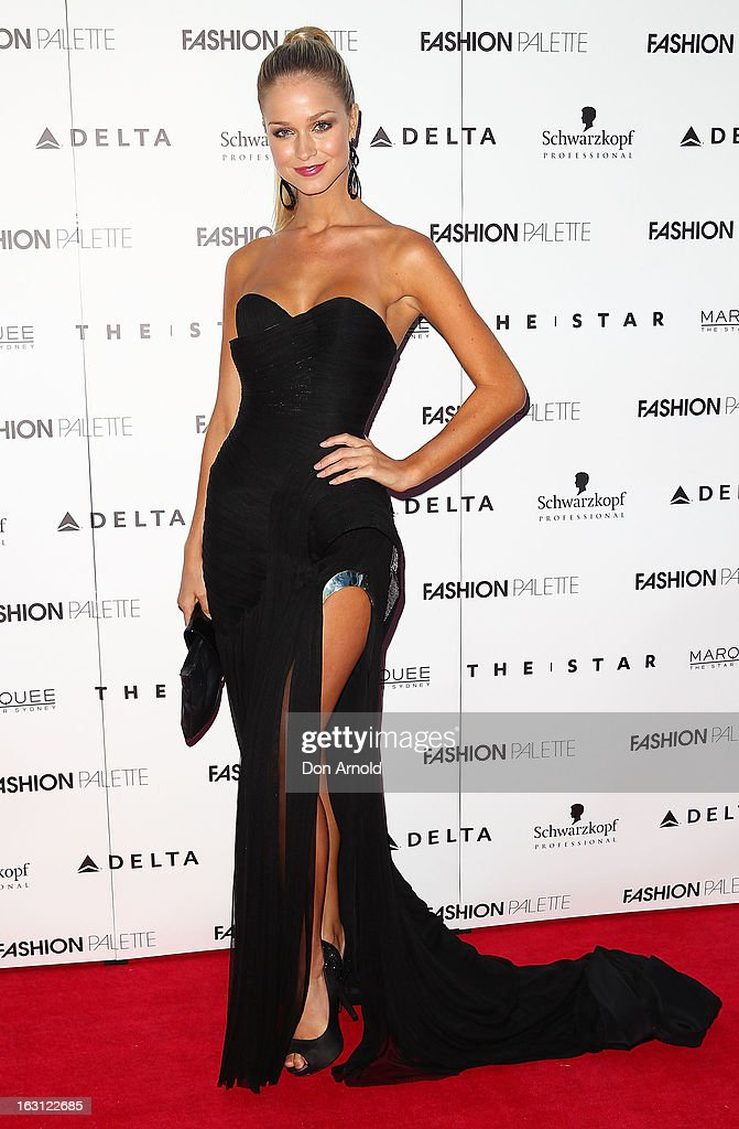 Renae Ayris poses during the Fashion Palette VIP launch at The Star on March 5, 2013 in Sydney, Australia.