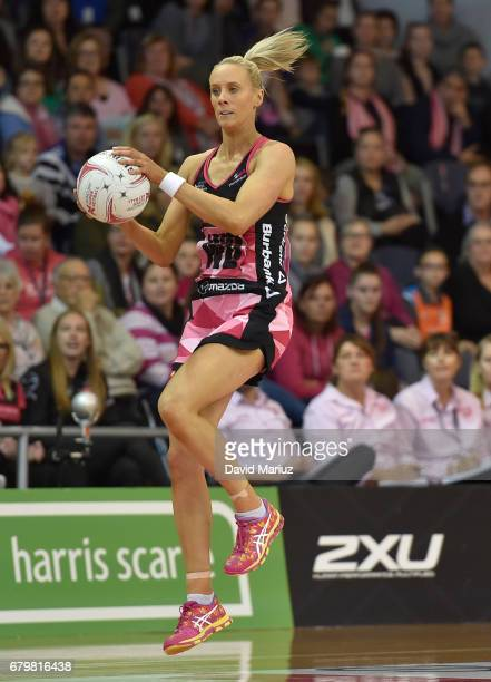 Renae Ingles of the Thunderbirds during the round eleven Super Netball match between the Thunderbirds and the Giants at Priceline Stadium Arena on...