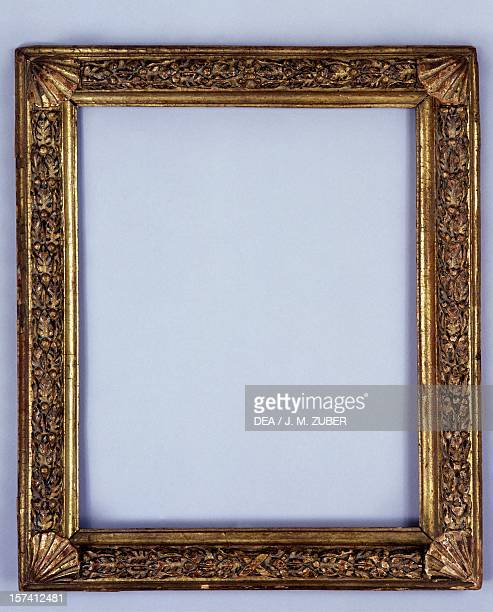 Renaissance frame carved and gilded wood France 17th century