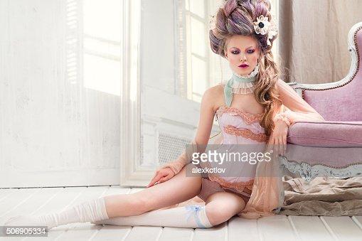 Renaissance woman on the floor