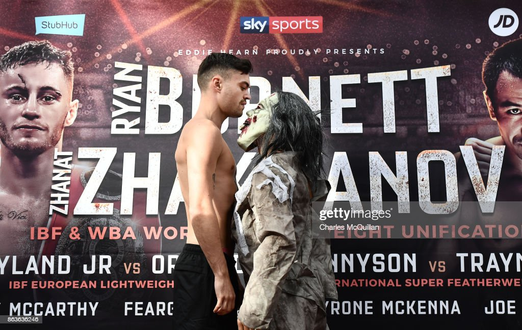 Burnett v Zhakiyanov: Weigh-in