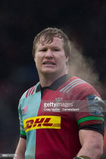 Renaldo Bothma of Harlequins during the European Rugby Champions Cup match between Harlequins and Ulster Rugby at Twickenham Stoop on December 10...