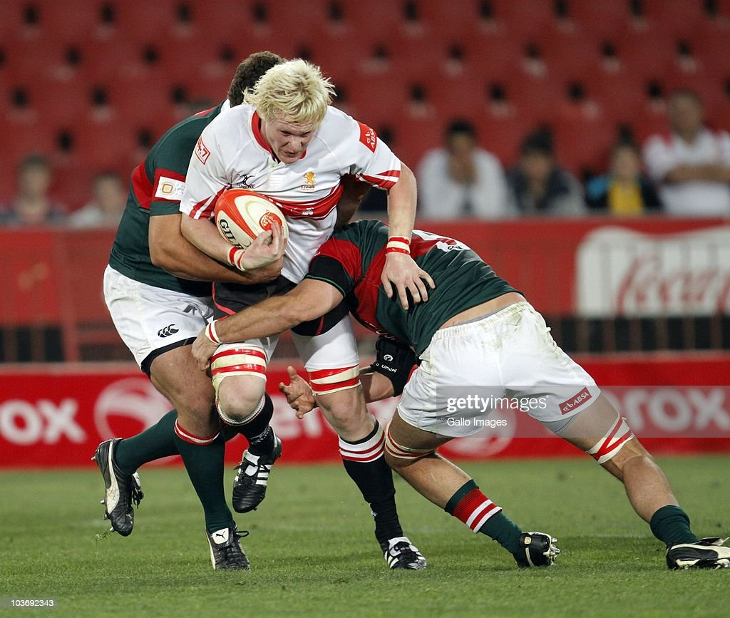 Renaldo Bothma of the Lions in action during the Absa Currie Cup match between the Xerox Lions and Platinum Leopards at Coca Cola Stadium on August 27, 2010 in Johannesburg, South Africa.