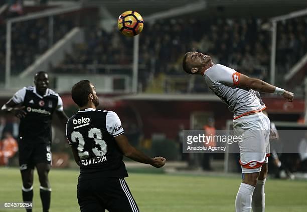 Renan Diniz of Adanaspor in action during the Turkish Spor Toto Super Lig match between Adanaspor and Besiktas at Adana 5 Ocak Fatih Terim Stadium in...
