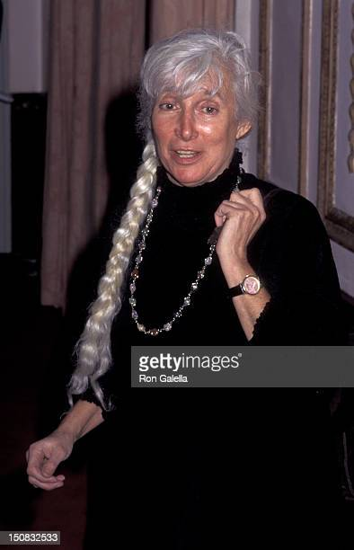 Renata Adler attends American Museum of the Moving Image Gala Honoring Robin Williams on February 23 1995 at the Waldorf Astoria Hotel in New York...