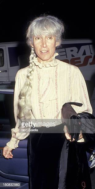 Renata Adler attends LordRosenthal Wedding Reception on June 10 1987 at John Kluge's home in New York City
