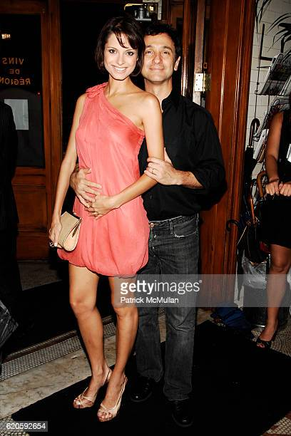 Renata Castro and Carlos Miele attend Private Dinner hosted by CARLOS JEREISSATI CEO of IGUATEMI at Pastis on September 6 2008 in New York City