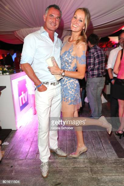 MUNICH GERMANY JUNE 26 Renata Kochta and her husband Thomas Frank during the Movie meets Media Party during the Munich Film Festival on June 26 2017...
