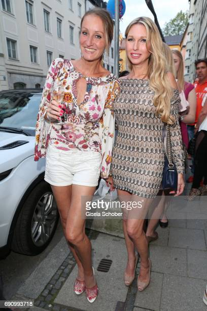 Renata Kochta and Sabine Piller during the charity shopping night at CE design store on May 31 2017 in Munich Germany