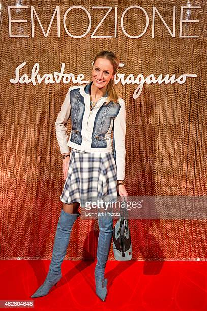 Renata Kochta poses during the Salvatore Ferragamo Emozione Fragrance Launch event at Residenz on February 5 2015 in Munich Germany