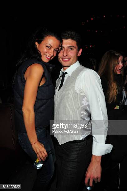 Renata Merriam and Stephan Dvorak attend American Red Cross Concern Worldwide and The Edeyo Foundation Fundraiser at 1 OAK on January 21 2010 in New...