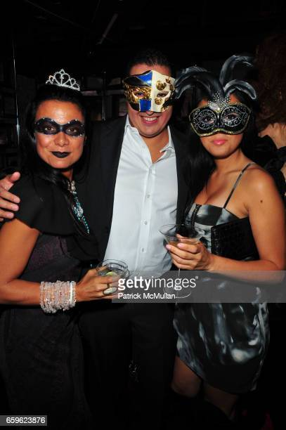 Renata Merriam Odin Erickson and guest attend INTERVIEW Russian Masquerade with Alex Ani and Stolichnaya Vodka at SL on October 22 2009 in New York...