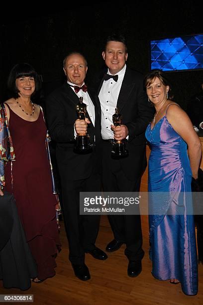 Renata Peek Hammond Peek Michael Hedges and Joanne Hedges attend Vanity Fair Oscar Party at Morton's Restaurant on March 5 2006