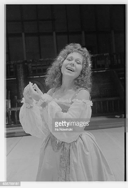 Renata Scotto performs her role as La Gioconda in the dress rehearsal for the opera La Gioconda Composer Amilcare Ponchielli
