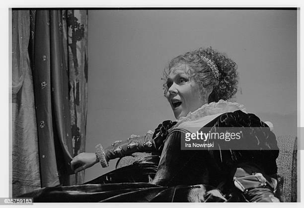 Renata Scotto warms up her voice before her performance as La Gioconda in the opera La Gioconda Composer Amilcare Ponchielli