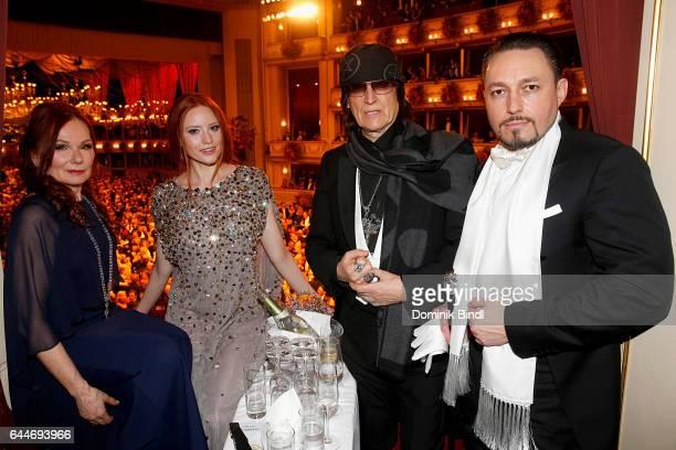 Renate Helnwein Barbara Meier Gottfried Helnwein and Klemens Hallmann during the Opera Ball Vienna at Vienna State Opera on February 23 2017 in...