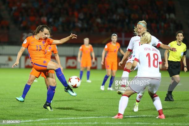 Renate Jansen of Holland Women Pernille Harder of Denmark women Mie Jans of Denmark women during the UEFA WEURO 2017 Group A group stage match...