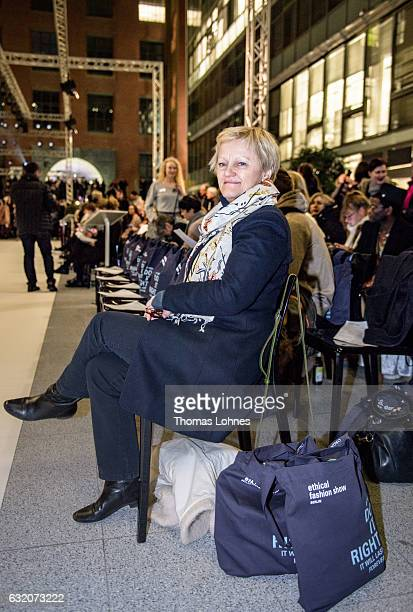 Renate Kuenast attends Ethical Fashion on Stage during the MercedesBenz Fashion Week Berlin A/W 2017 on January 18 2017 in Berlin Germany