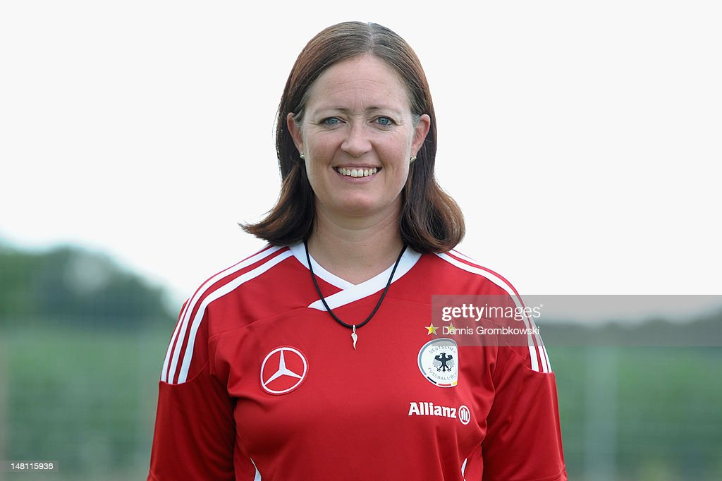 Renate Lingor poses during the Women's U20 Germany photocall on July 10, 2012 in Heusenstamm, Germany.