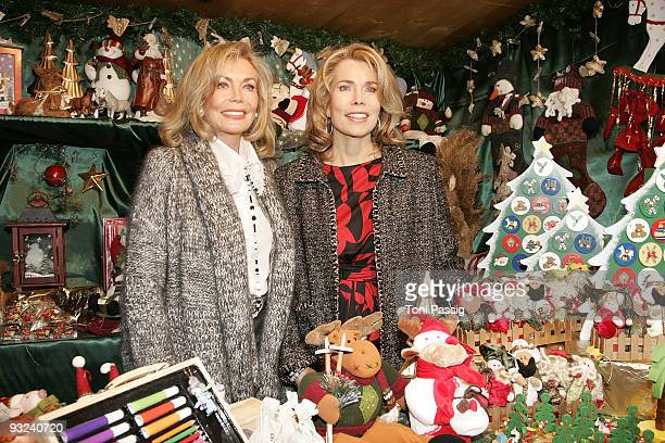Renate ThyssenHenne and Gabriele ThyssenHenne attend the Christmas market opening at Gut Aiderbichl on November 19 2009 in Salzburg Austria