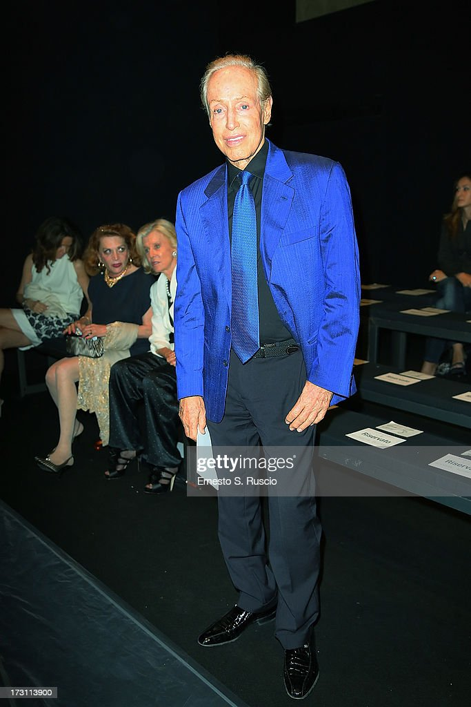 Renato Balestra attends the Jean Paul Gaultier Couture fashion show as part of AltaRoma AltaModa Fashion Week Autumn/Winter 2013 on July 7, 2013 in Rome, Italy.