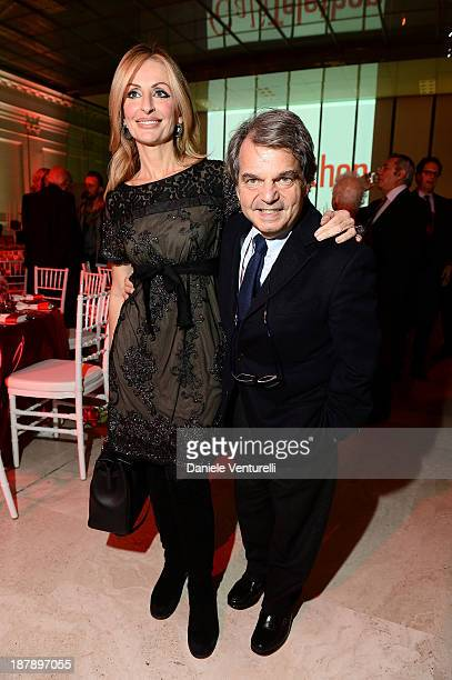 Renato Brunetta and Titti Giovannone attend the Gala Telethon 2013 Roma during The 8th Rome Film Festival on November 13 2013 in Rome Italy