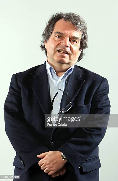 Renato Brunetta economist and deputy of the PDL Popolo delle liberta party poses at the Colonna Palace Hotel on March 21 2012 in Rome Italy