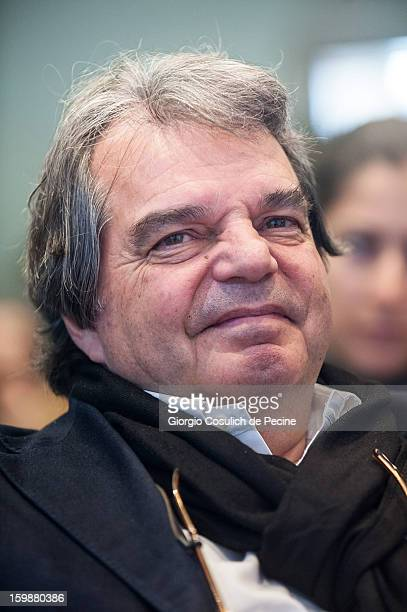 Renato Brunetta from PDL political party attends the press conference for the presentation of Google Elections 2013 on January 22 2013 in Rome Italy...