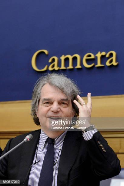 Renato Brunettaparliamentarian of Forza Italia during the presentation of the proposal on Security on March 09 2017 in Rome Italy