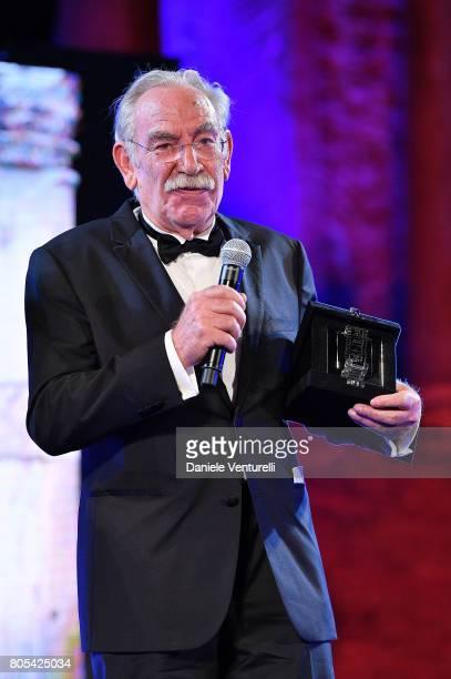 Renato Carpentieri attends Nastri D'Argento 2017 Awards Ceremony on July 1 2017 in Taormina Italy