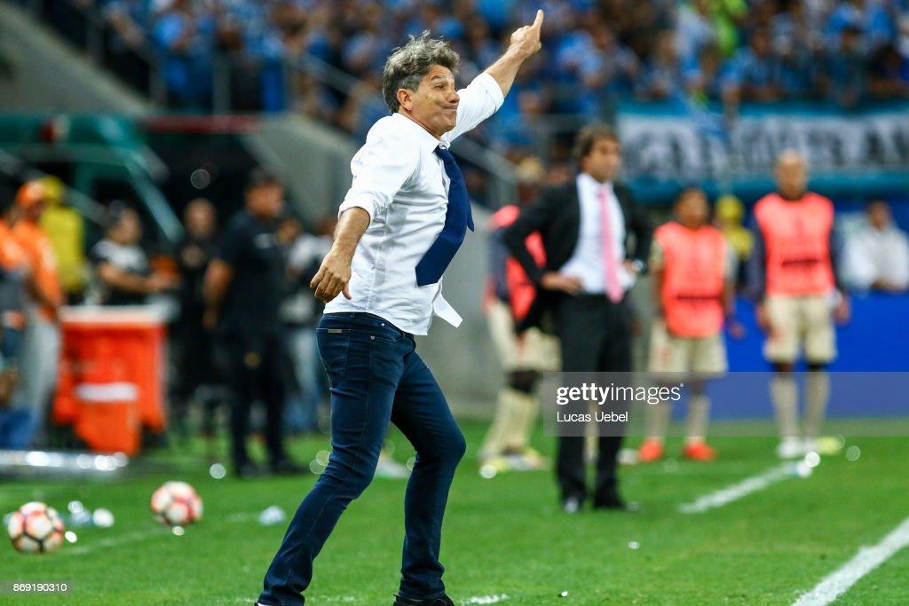 Renato Gaucho coach of Gremio during Gremio v Barcelona de Guayaquil match, part of Copa Bridgestone Libertadores 2017 Semi-Finals, at Arena do Gremio on November 1, 2017, in Porto Alegre, Brazil.
