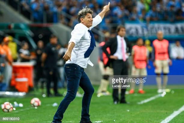 Renato Gaucho coach of Gremio during Gremio v Barcelona de Guayaquil match part of Copa Bridgestone Libertadores 2017 SemiFinals at Arena do Gremio...