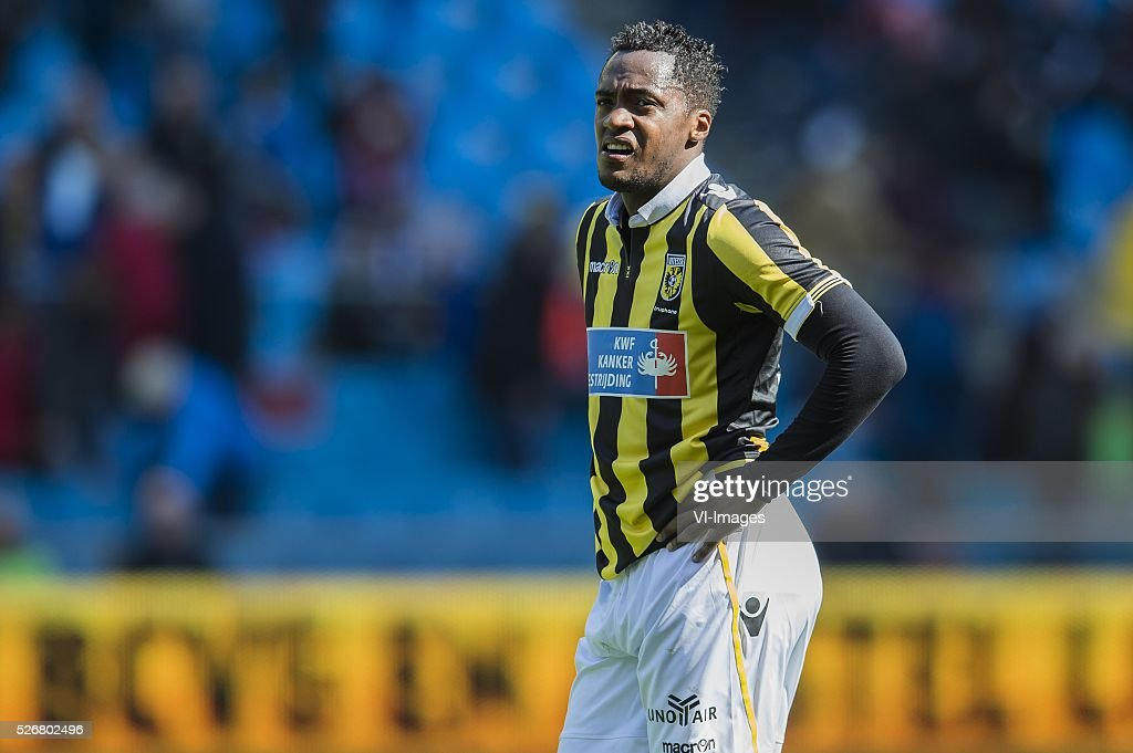 Renato Ibarra of Vitesse during the Dutch Eredivisie match between Vitesse Arnhem and FC Utrecht at Gelredome on May 01, 2016 in Arnhem, The Netherlands