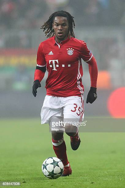 Renato Junior Luz Sanches of Muenchen controls the ball during the UEFA Champions League match between FC Bayern Muenchen and Club Atletico de Madrid...